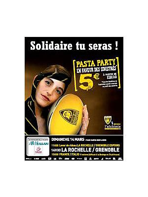 illustration de Dimanche 14 mars au Stade Rochelais : rugby, matchs, pasta-party et solidarité