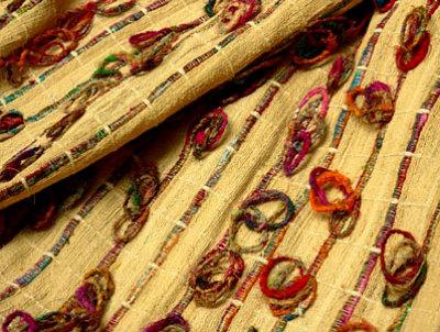 illustration de Tissu couture été 2010 : bourette de soie fantaisie