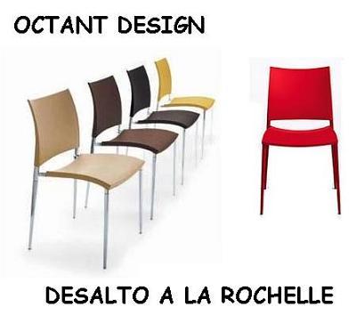 illustration de Chaise Sand de Desalto à la rochelle chez Octant Design