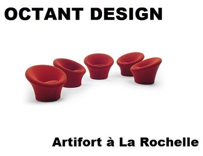 illustration de Fauteuil Mushroom Artifort chez Octant Design à La Rochelle