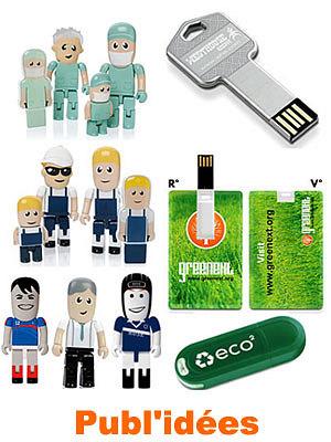 illustration de Publ'idées La Rochelle : Clés USB et publicité par l'objet