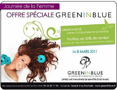 illustration de La Rochelle beauté bio : offre spéciale pour la Journée de la Femme, mardi 8 mars 2011 !