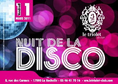 illustration de La Rochelle clubing : soirée Disco au Triolet, vendredi  11 mars 2011