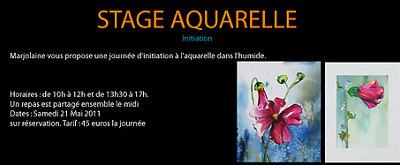 illustration de Cours d'Art à La Rochelle : Découvrez les Stages d'Initiation à l'Aquarelle proposés par Marjolaine Denimal