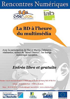 illustration de La Rochelle : la BD à l'heure du multimédia avec Sunny Lab, mercredi 30 mars 17h30