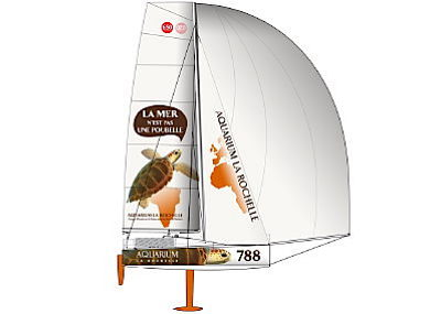 illustration de La tortue de l'Aquarium : un bateau, un skipper, un site internet !