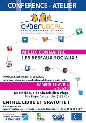 illustration de Châtelaillon-Plage : mieux connaître les réseaux sociaux, samedi 16 avril 2011 à 10h30