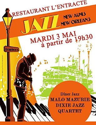 illustration de La Rochelle - restaurant l'Entracte : dîner-concert jazz, mercredi 3 mai 2011