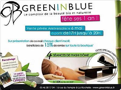 illustration de Beauté bio et naturelle : journée spéciale, vendredi 6 mai 2011 chez Green In Blue !
