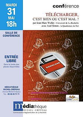 illustration de La Rochelle : conférence-débat sur le téléchargement, mardi 31 mai 2011