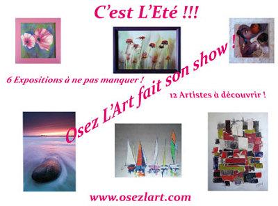 illustration de Expositions - Charente Maritime: ça y est l'Eté est là et Osez l'Art fait son show !