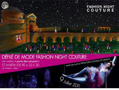 illustration de Saint-Martin de Ré - Fashion Night : Catherine Lassègue au défilé couture, samedi 9 juillet à partir de 22h30
