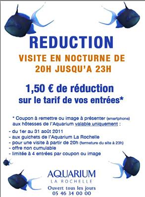 illustration de La Rochelle : l'Aquarium en nocturne de 20h à 23h, réduction jusqu'au 31 août 2011 !
