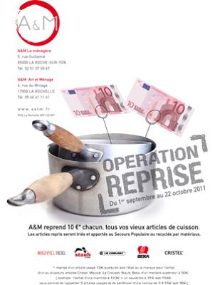 illustration de PROMO terminée !!! La Rochelle - La Roche-sur-Yon cuisine : opération reprise sur les articles de cuisson jusqu'au 22 oct. 2011 !