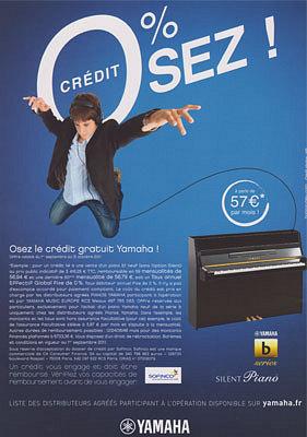 illustration de OFFRE TERMINÉE. La Rochelle : pianos Yamaha chez Thierry Musique, offre de crédit à 0%* !
