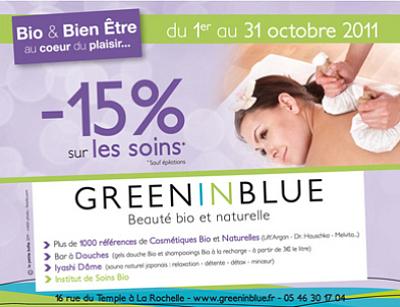 illustration de La Rochelle bio, beauté, bien-être : - 15%* sur les soins, derniers jours jusqu'au 31 octobre 2011 !