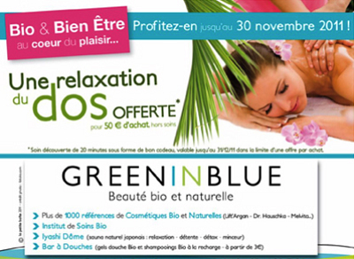 illustration de La Rochelle bien-être : offre spéciale, une relaxation du dos offerte pour 50€ d'achat* jusqu'au 30 nov. 2011 !