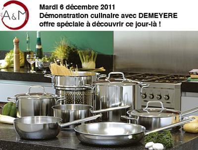 illustration de La Rochelle : démonstration culinaire spéciale induction avec Demeyere, mardi 6 décembre 2011