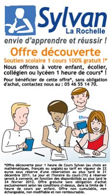 illustration de La Rochelle cours de maths, français, anglais : offre découverte jusqu'au 31 décembre 2011 !