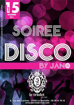 illustration de La Rochelle clubbing : soirée disco avec Jano, jeudi 15 décembre 2011