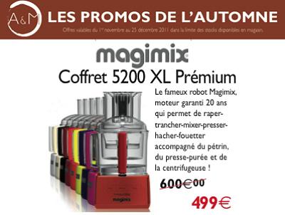 illustration de La Rochelle : robot culinaire Magimix, idée cadeau et super promo jusqu'au 25 décembre 2011 !