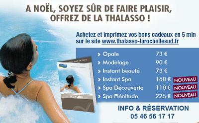 illustration de La Rochelle : idées cadeaux Thalasso et bien-être pour Noël