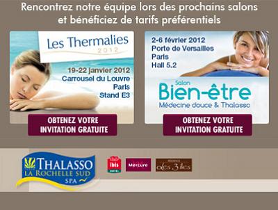 illustration de La Thalasso La Rochelle Sud à Paris 19-22 janvier et 2-6 février 2012 !