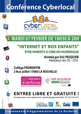 illustration de La Rochelle : internet et nos enfants, conférence avec Cyberlocal, mardi 7 février à 18h30