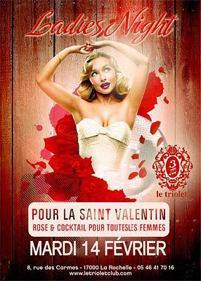 illustration de La Rochelle clubbing : la Saint Valentin au Triolet, mardi 14 février 2012