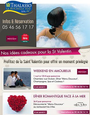 illustration de La Rochelle sud, Thalasso et escapades : idées cadeaux pour la Saint Valentin 2012
