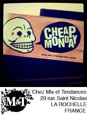 illustration de La Rochelle : Cheap Monday rejoint les collections printemps-été 2012 chez Mix et Tendances