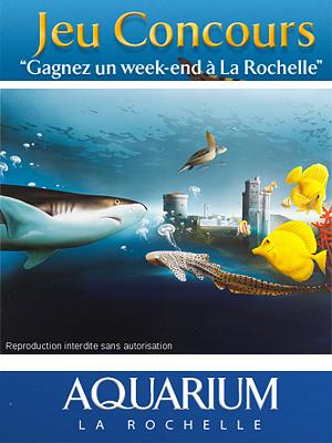 illustration de Aquarium de La Rochelle : jeu-concours, 4 week-ends à La Rochelle à gagner jusqu'au 6 avril 2012