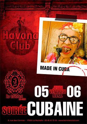 illustration de Clubbing à La Rochelle : soirées cubaines, jeudi 5 et vendredi 6 avril 2012