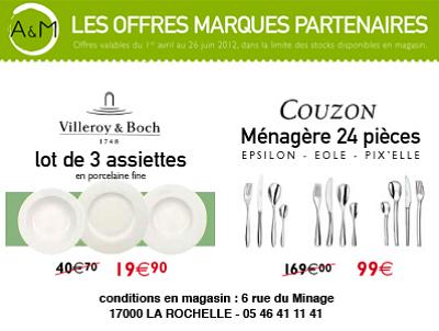 illustration de La Rochelle : super promo sur les ménagères 24 couverts Couzon !!!