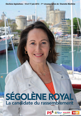 illustration de La Rochelle - �le de R� L�gislatives 2012, Parti socialiste : l'agenda de campagne de S�gol�ne Royal