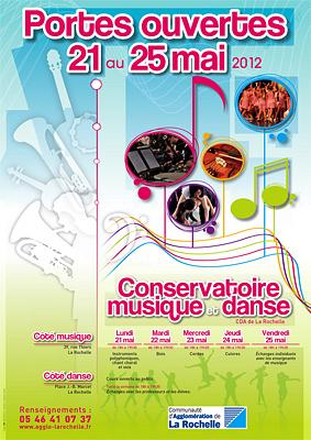 illustration de La Rochelle : portes ouvertes au Conservatoire du lundi 21 au vendredi 25 mai 2012