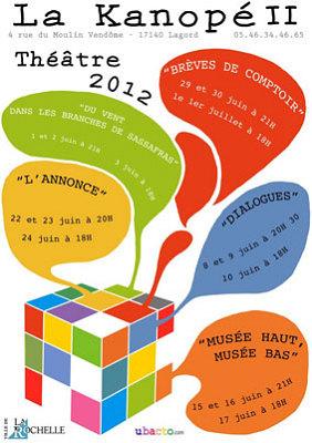 illustration de La Rochelle - Lagord : représentions des ateliers théâtre, 5 week-end eu mois de juin 2012 !