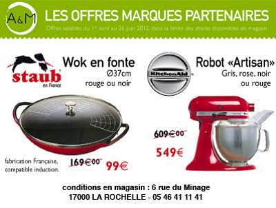 illustration de La Rochelle : f�te des m�res, promos Kitchen Aid et plus !