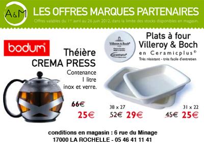 illustration de PROMO TERMINEE. La Rochelle : arts de la table, culinaires, grandes marque en promo !