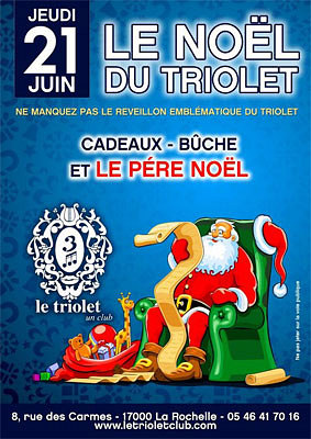 illustration de La Rochelle clubbing : ce week-end et RV pour le Noël du Triolet jeudi 21 juin 2012 !