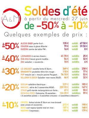 illustration de La Rochelle : arts de la table et culinaire, ouverture des soldes d'été !