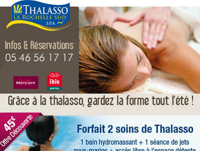 illustration de Châtelaillon-Plage : profitez du forfait découverte bien-être à 45€ à la Thalasso de La Rochelle Sud !