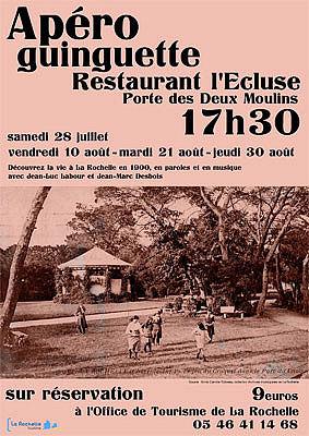 illustration de La Rochelle en 1900 : apéro-guinguette, vendredi 10 août 2012 à 17h30