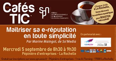 illustration de La Rochelle numérique : café TIC sur la e-réputation, mercredi 5 septembre 2012 à 8h30