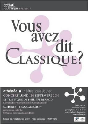 illustration de Concert � Paris : Cristal Classic � l'Ath�n�e, lundi 24 septembre