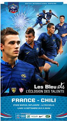 illustration de Football : les Bleuets à La Rochelle pour un match Espoirs de France - Chili, lundi 10 septembre 2012 - 20h50