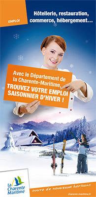 illustration de Charente-Maritime - La Rochelle : emplois saisonniers � la montagne, forum et d�placements sept-oct. 2012