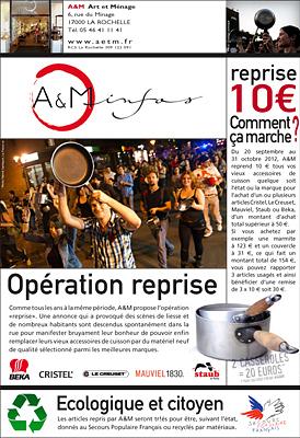 illustration de Opération reprise à La Rochelle sur le matériel de cuisson 10 euros de remise par tranche de 50 euros d'achat !