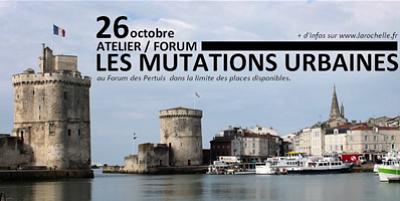 illustration de La Rochelle - villes en mutation : atelier-forum avec Luc Gwiazdzinski, vendredi 26 octobre 10h-13h, inscriptions ouvertes !