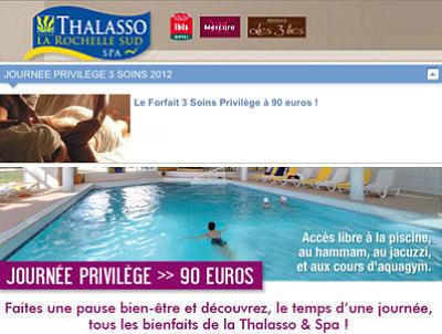 illustration de Châtelaillon - Thalasso La Rochelle Sud : week-end détente, journées bien-être, spa et Thalasso !